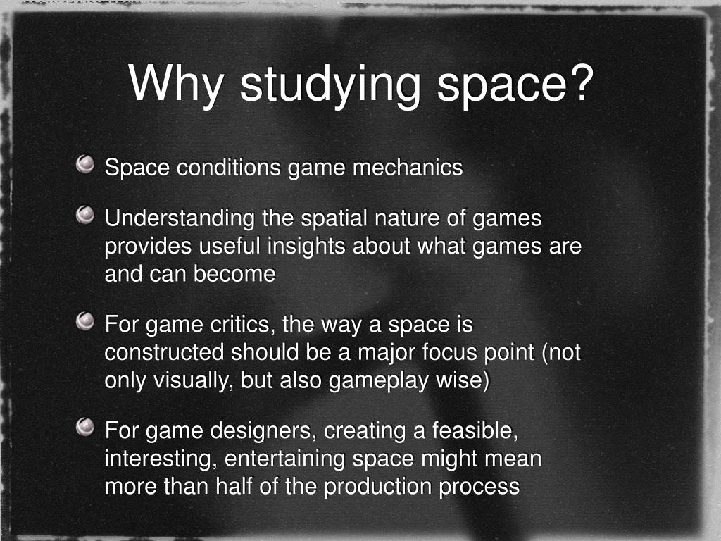 Why studying space?
