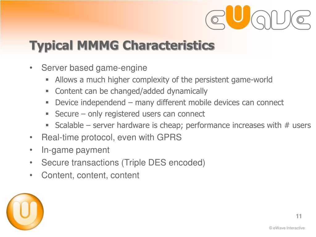 Typical MMMG Characteristics
