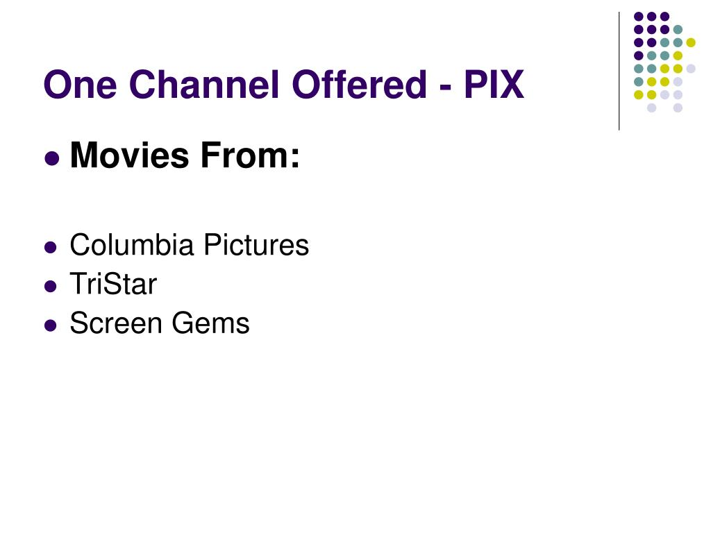 One Channel Offered - PIX