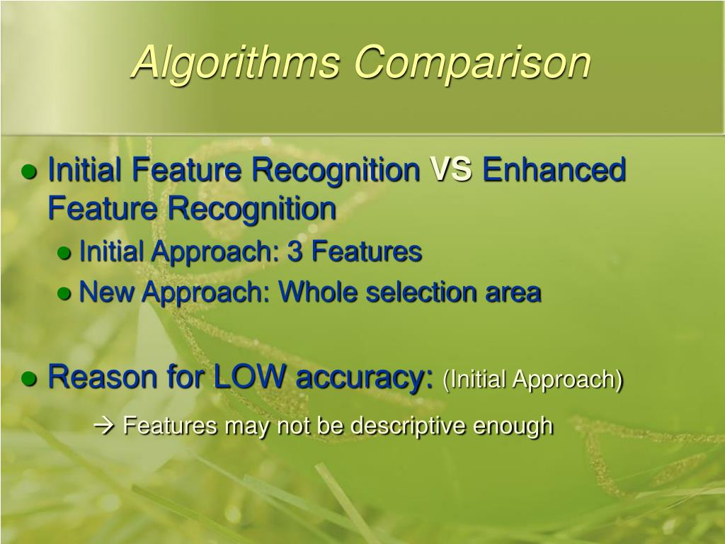 Algorithms Comparison