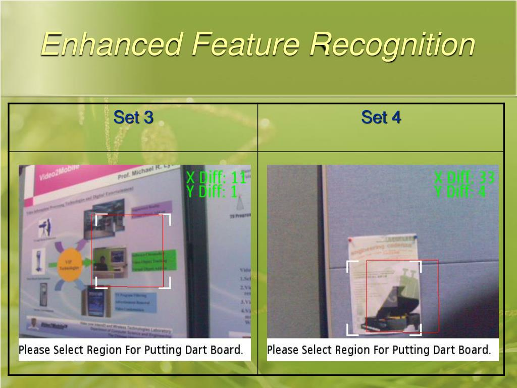 Enhanced Feature Recognition