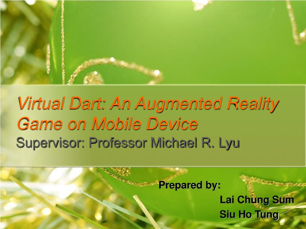 Virtual Dart: An Augmented Reality Game on Mobile Device