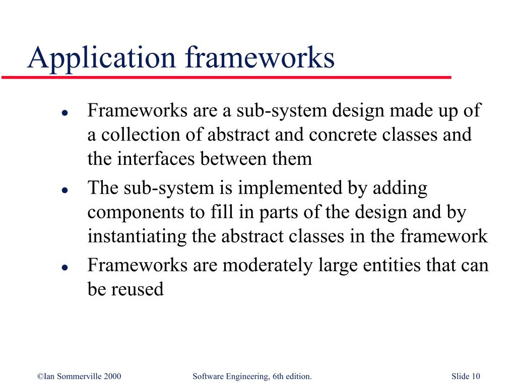 Application frameworks