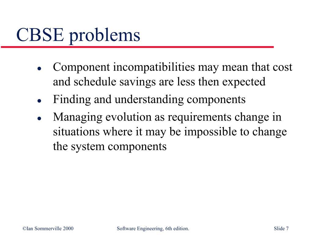 CBSE problems