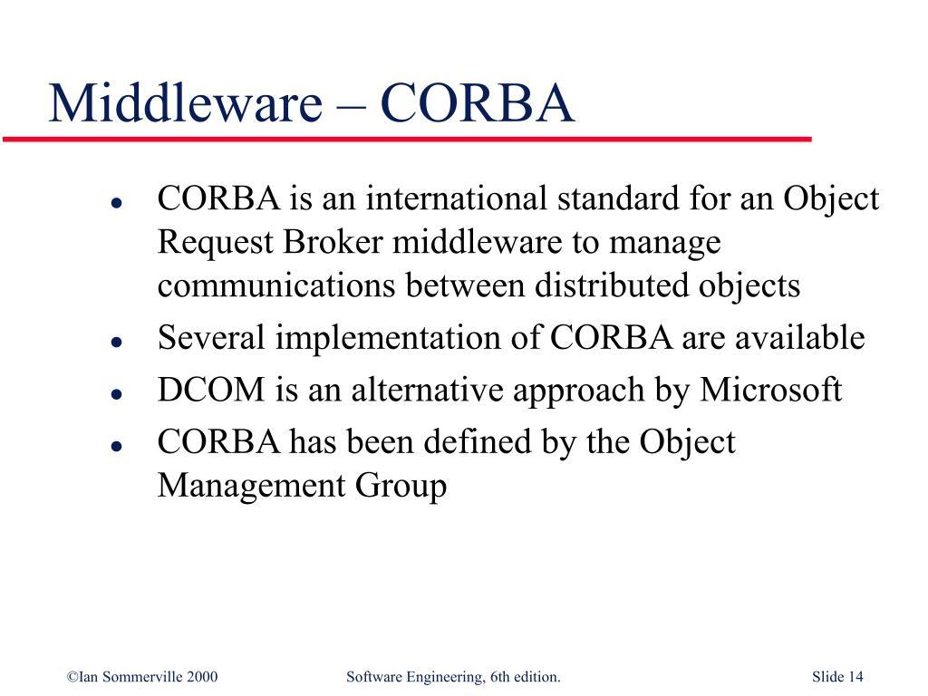 Middleware – CORBA