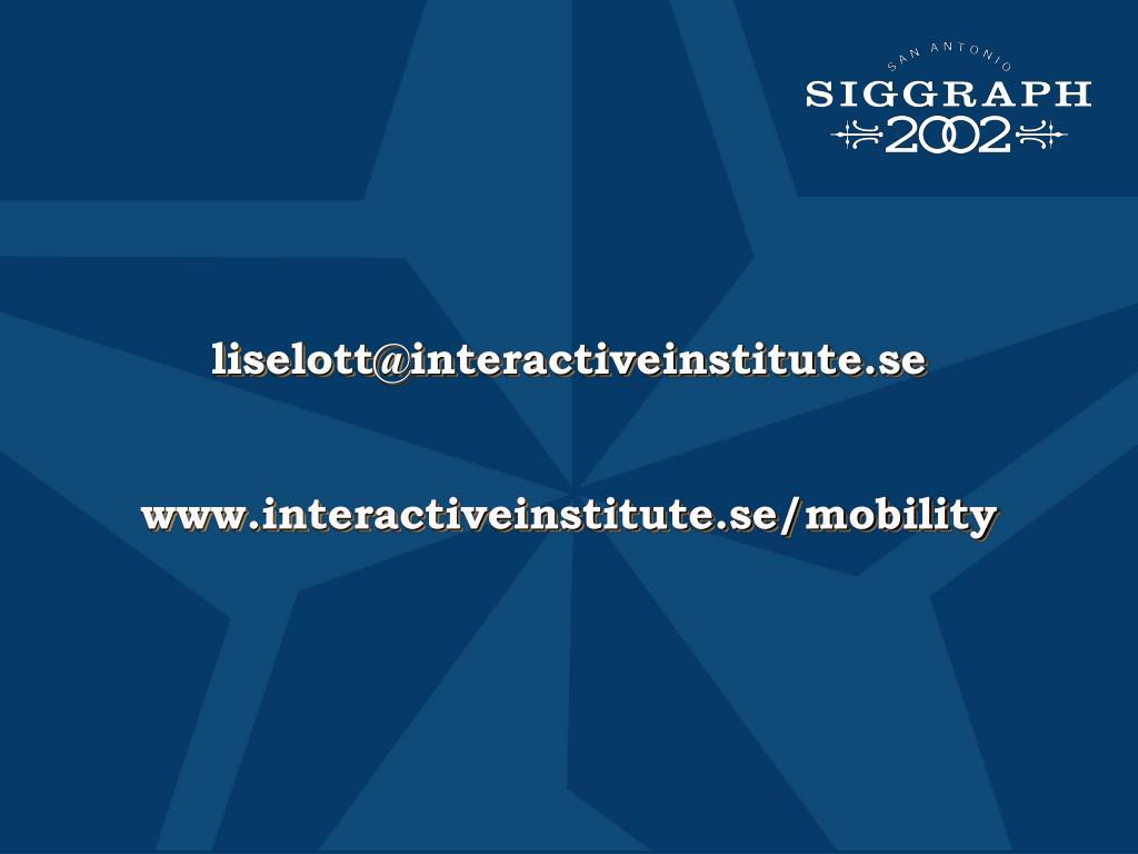 liselott@interactiveinstitute.se