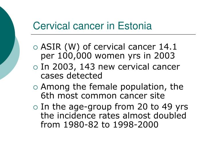Cervical cancer in estonia