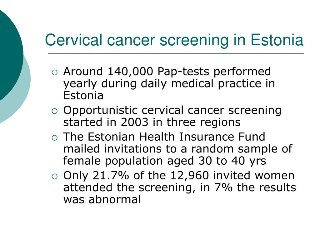 Cervical cancer screening in Estonia
