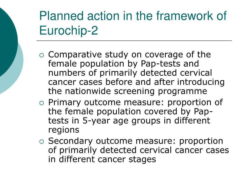 Planned action in the framework of Eurochip-2