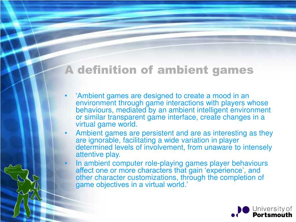 A definition of ambient games