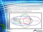 pervasive games ambient games and ambient intelligence