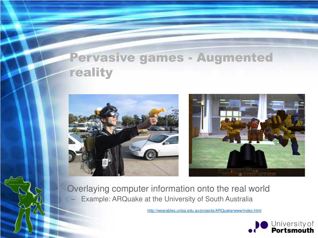 Pervasive games - Augmented reality