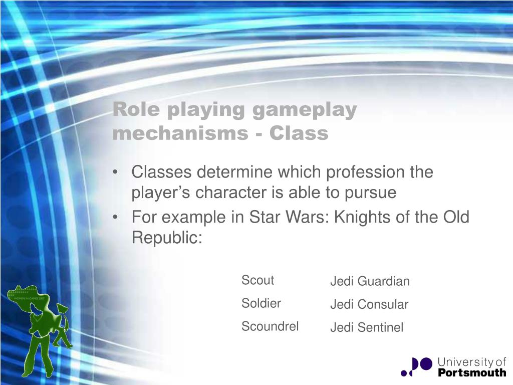 Role playing gameplay mechanisms - Class