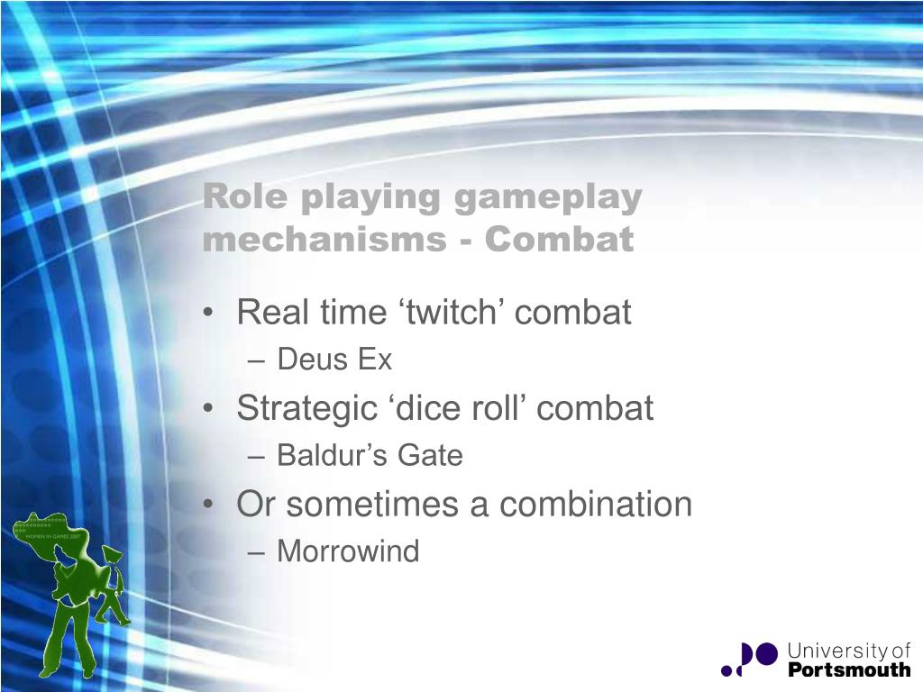 Role playing gameplay mechanisms - Combat
