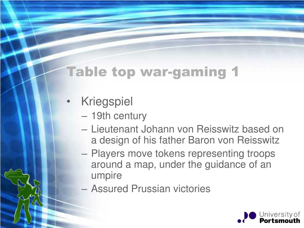 Table top war-gaming 1