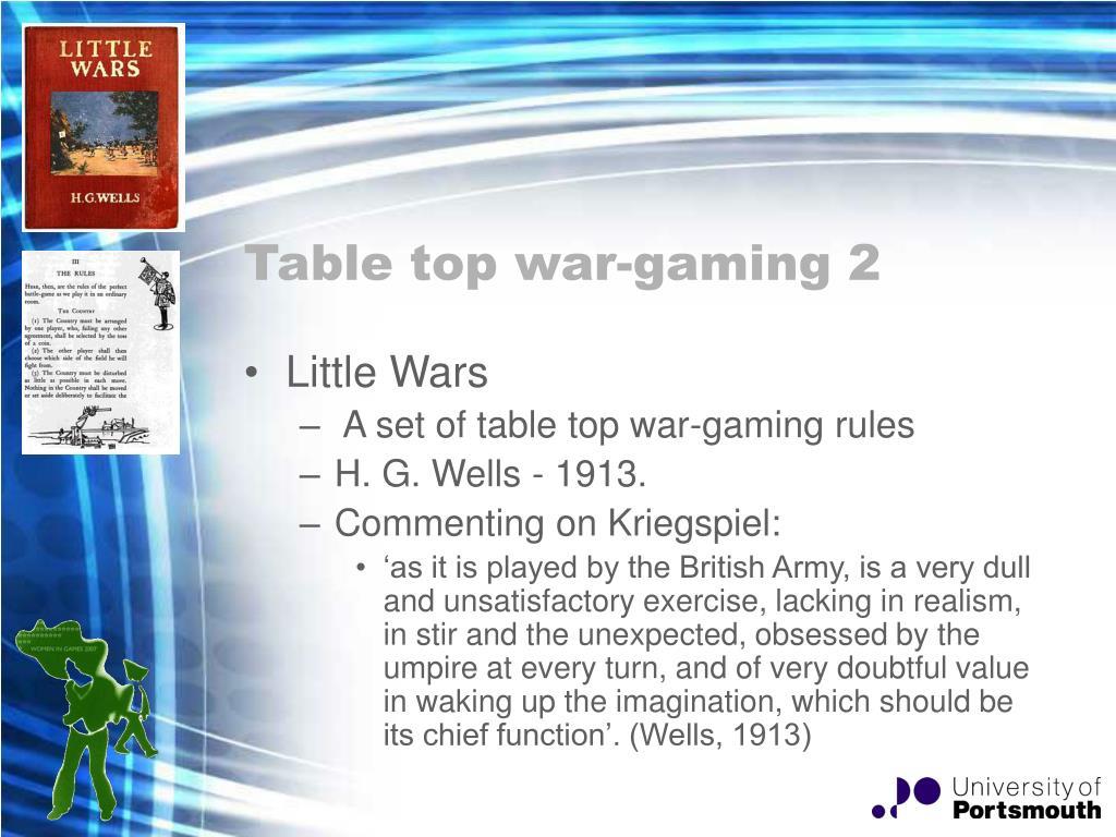 Table top war-gaming 2