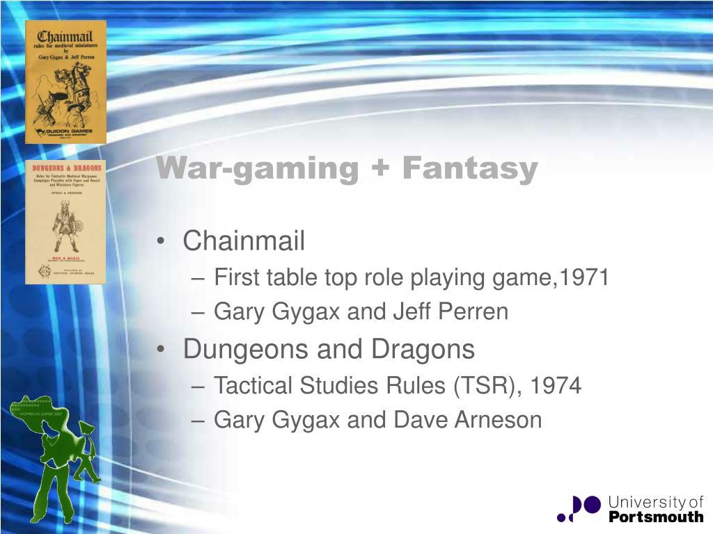 War-gaming + Fantasy