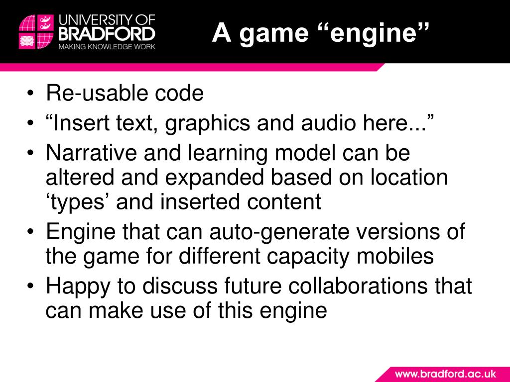 "A game ""engine"""