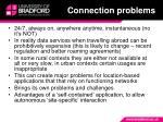 connection problems