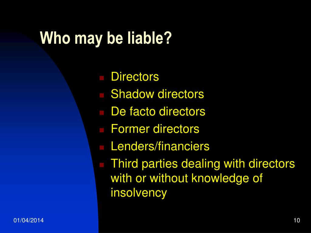 Who may be liable?