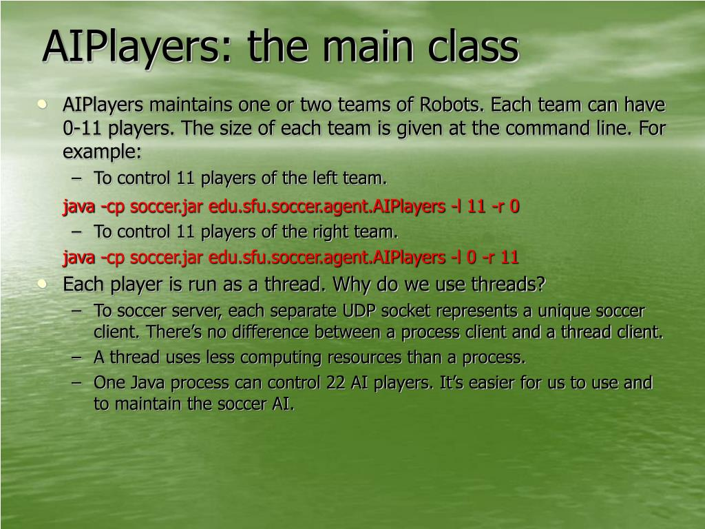 AIPlayers: the main class