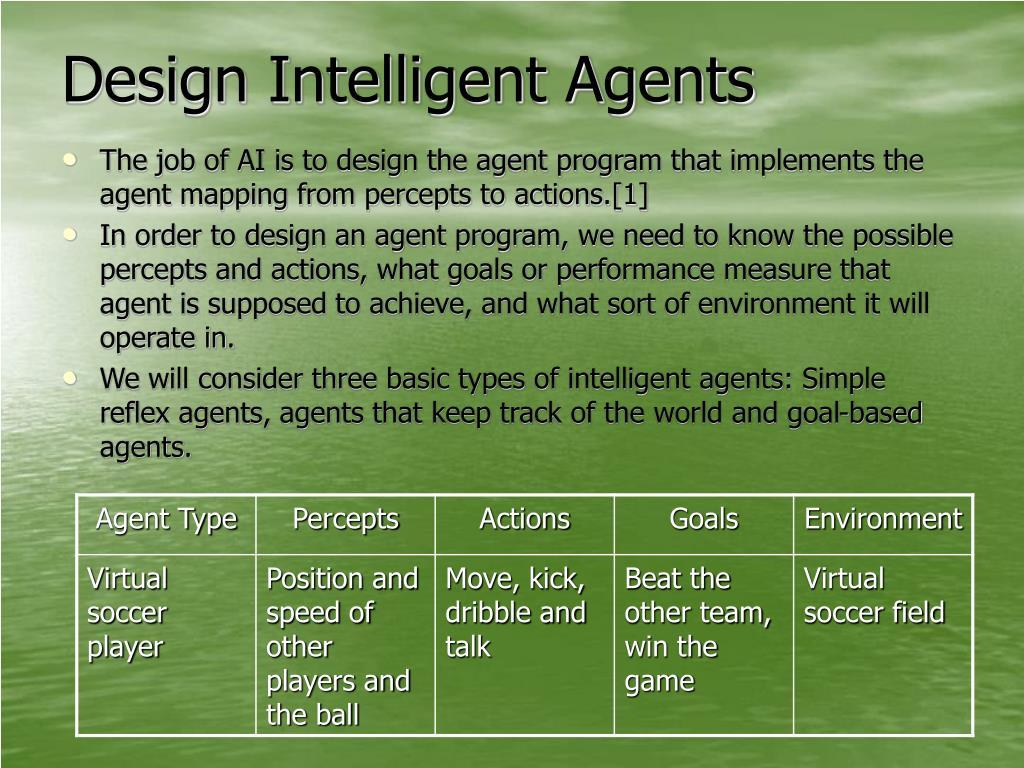 Design Intelligent Agents