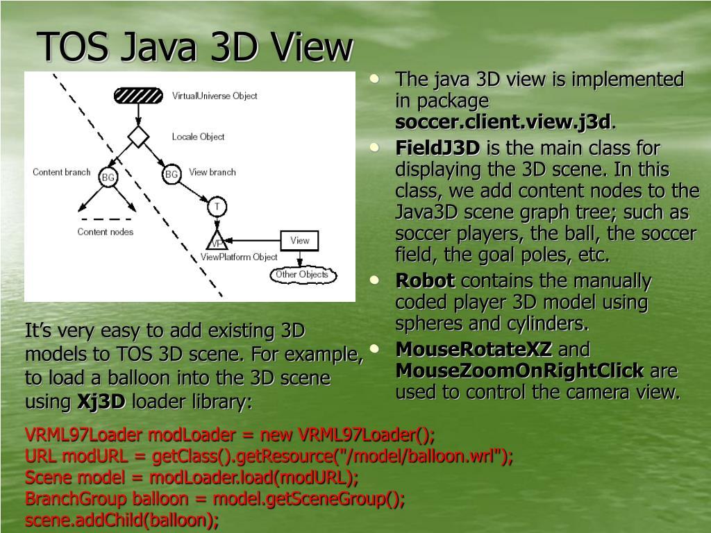 TOS Java 3D View