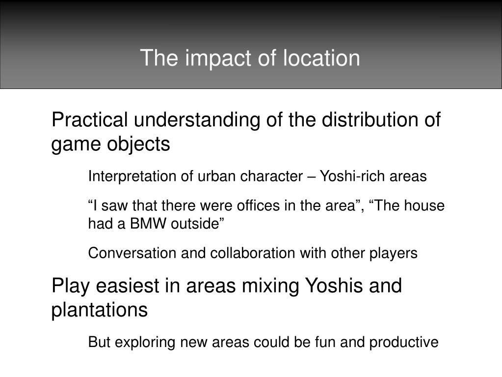 The impact of location