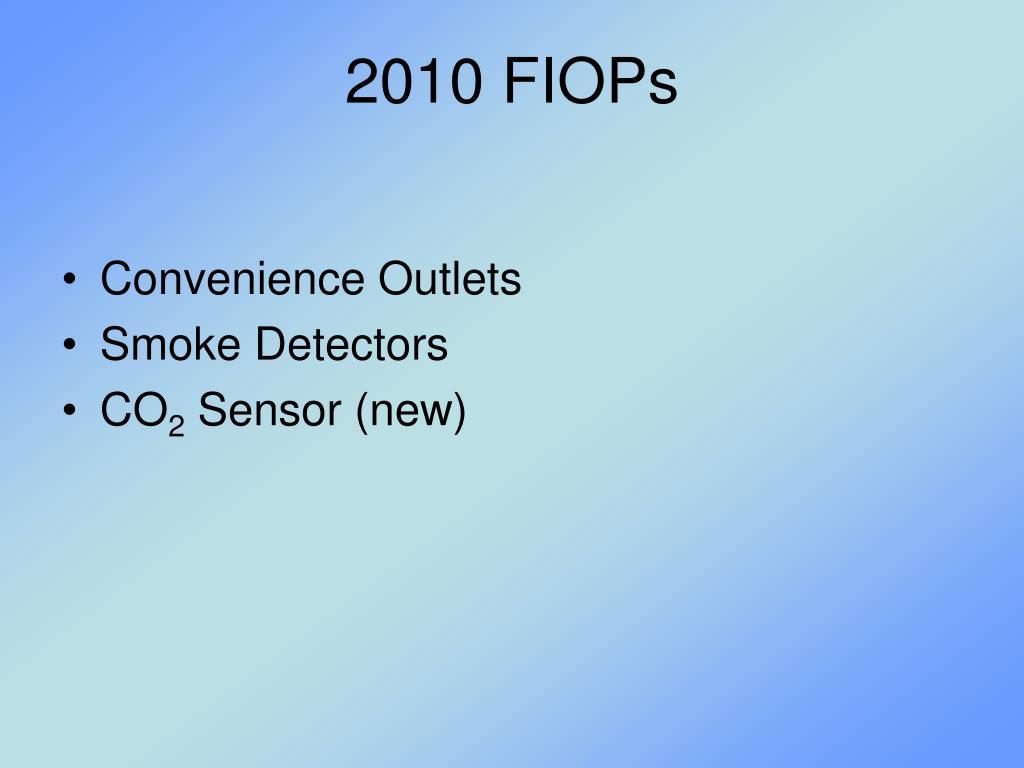 2010 FIOPs