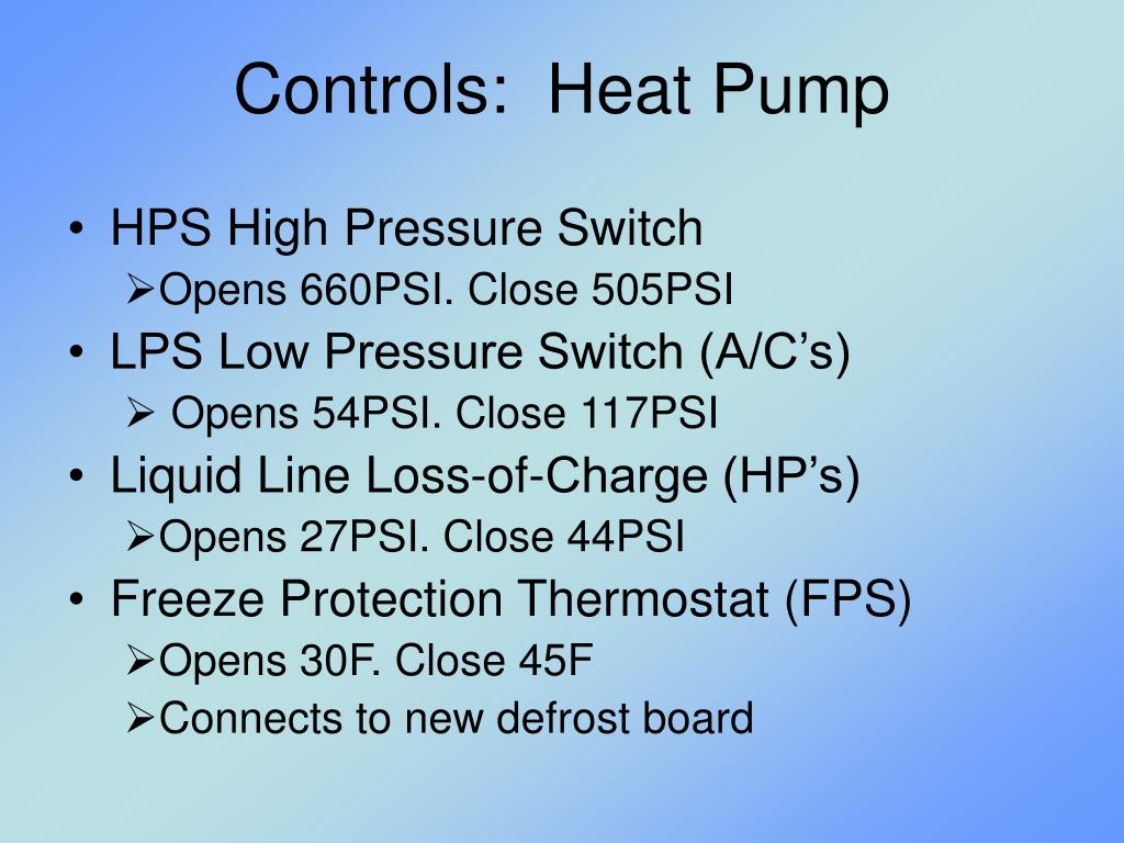 Controls:  Heat Pump