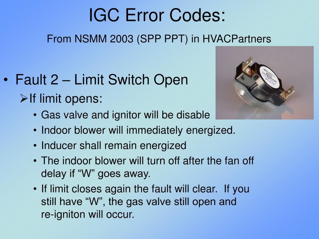 IGC Error Codes: