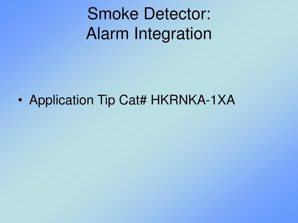 Smoke Detector: