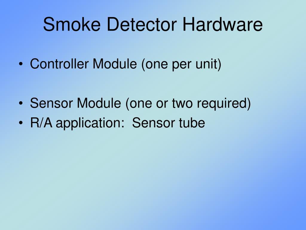 Smoke Detector Hardware