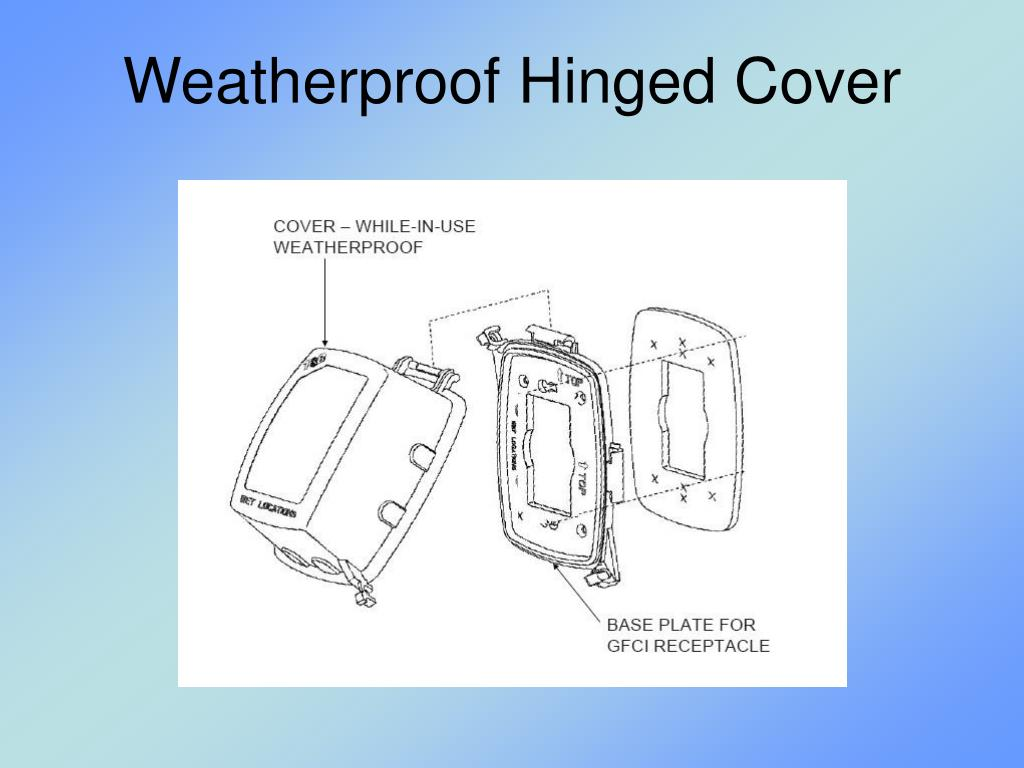 Weatherproof Hinged Cover