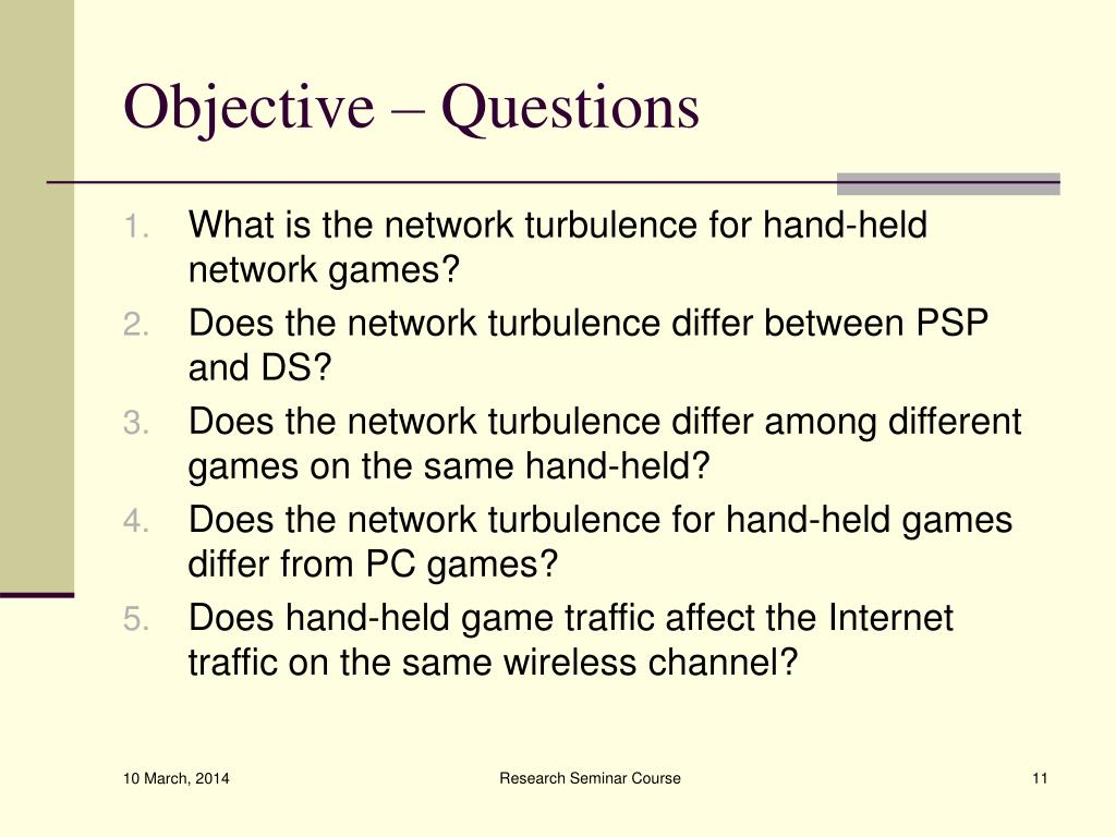 Objective – Questions
