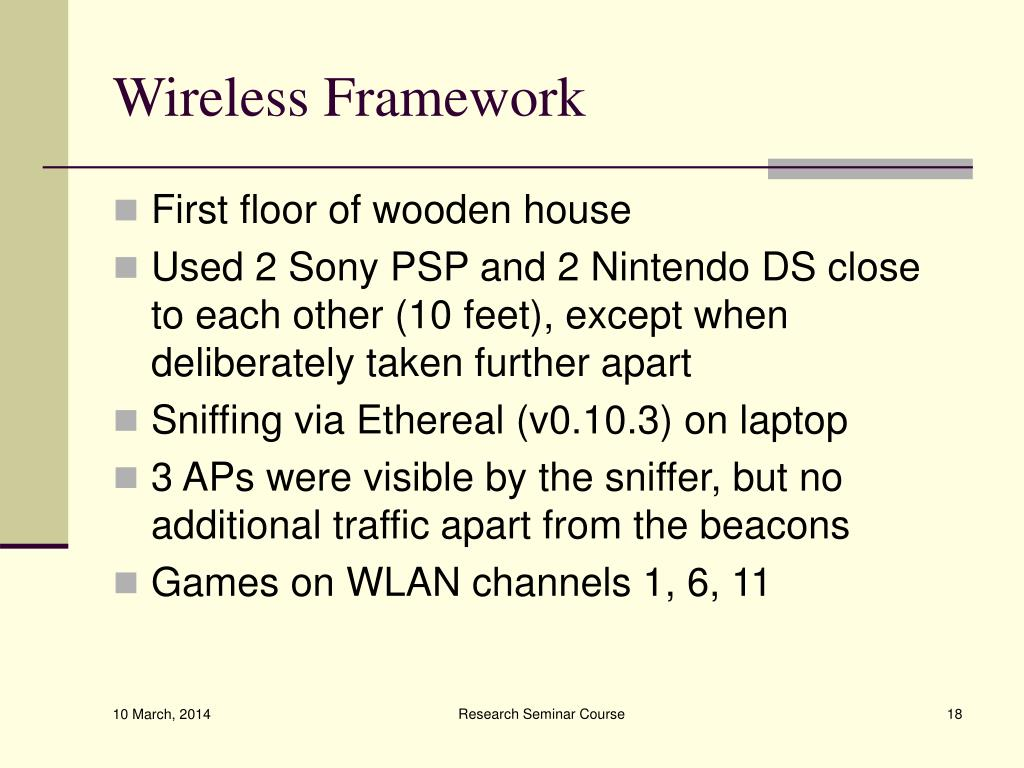 Wireless Framework