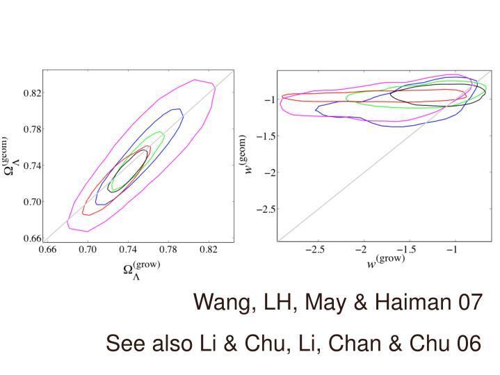 Wang, LH, May & Haiman 07