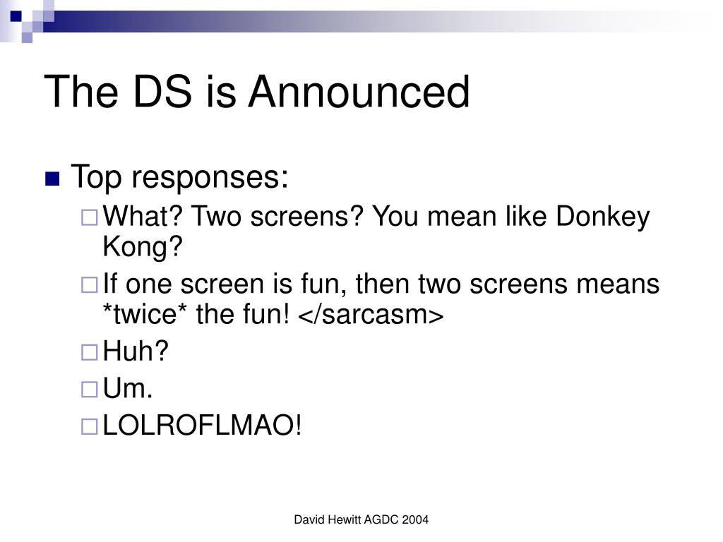 The DS is Announced