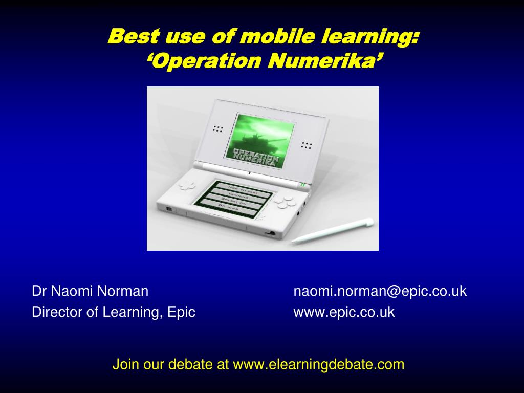 Best use of mobile learning: