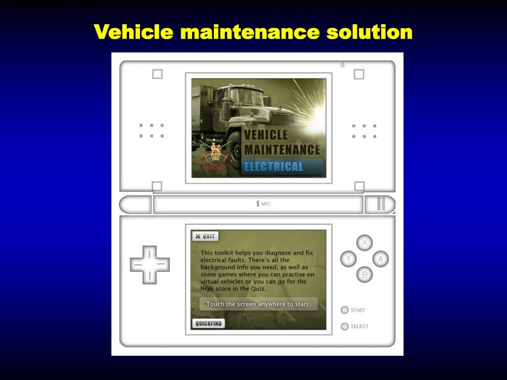 Vehicle maintenance solution
