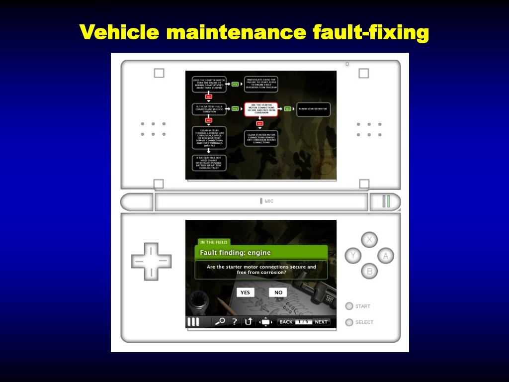 Vehicle maintenance fault-fixing