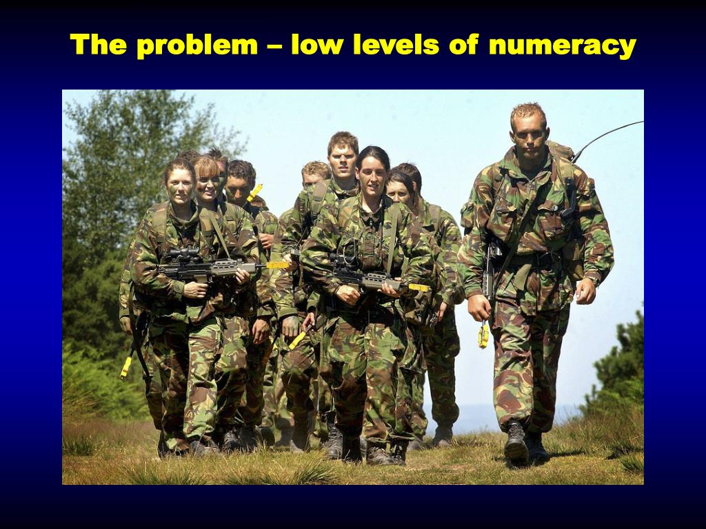 The problem – low levels of numeracy