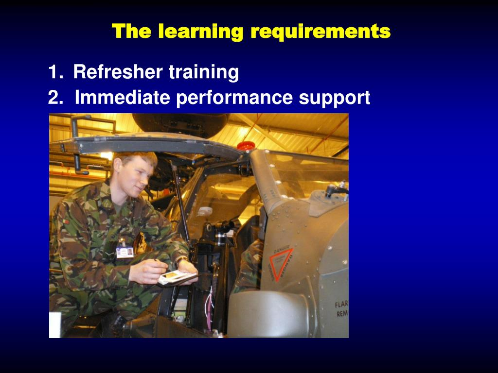 The learning requirements