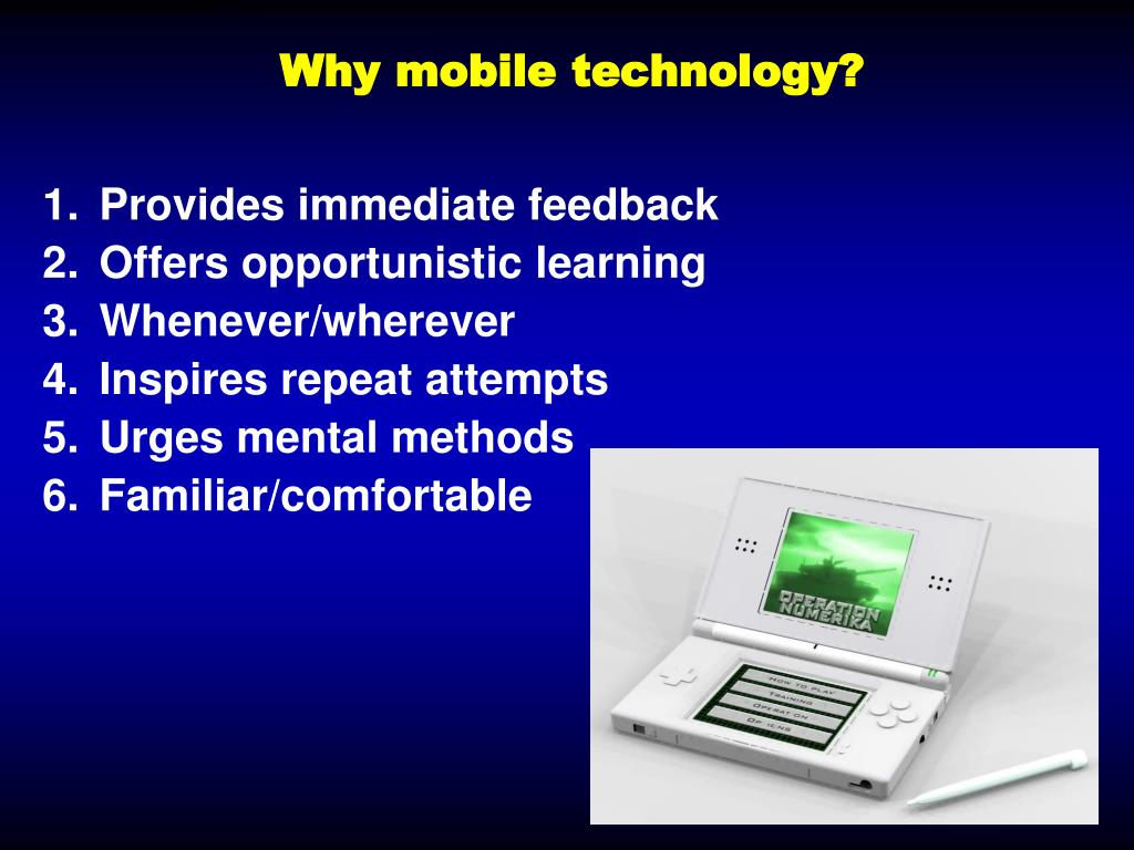 Why mobile technology?