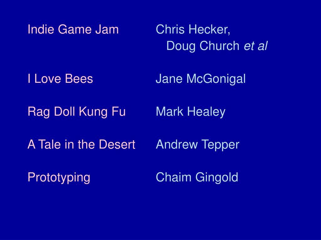 Indie Game Jam