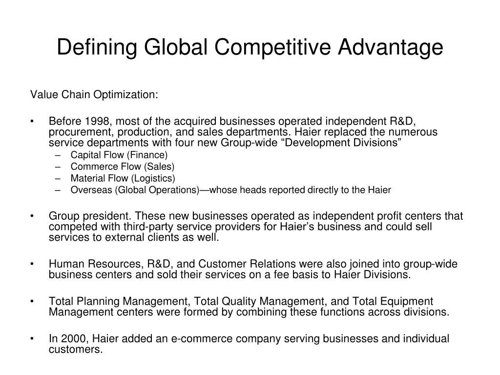 Defining Global Competitive Advantage