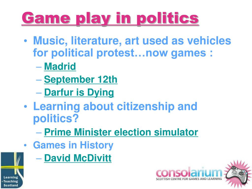 Game play in politics