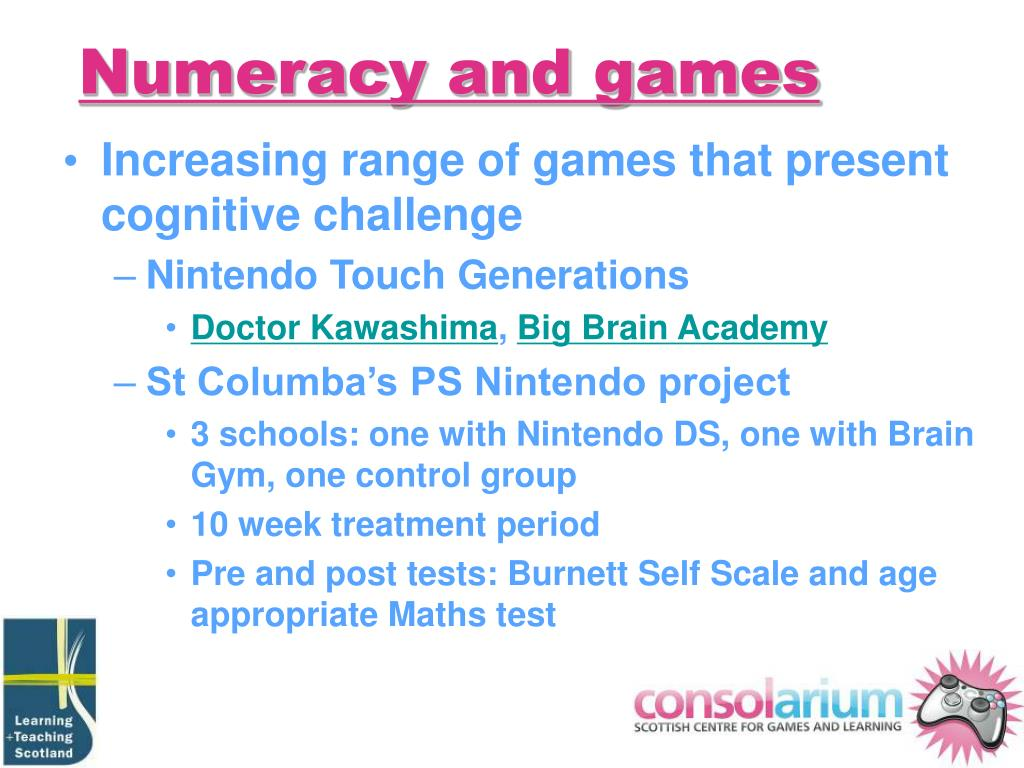 Numeracy and games