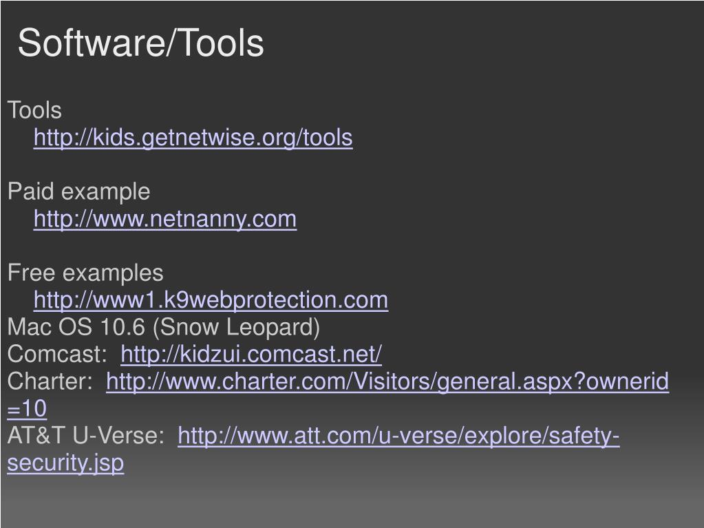 Software/Tools
