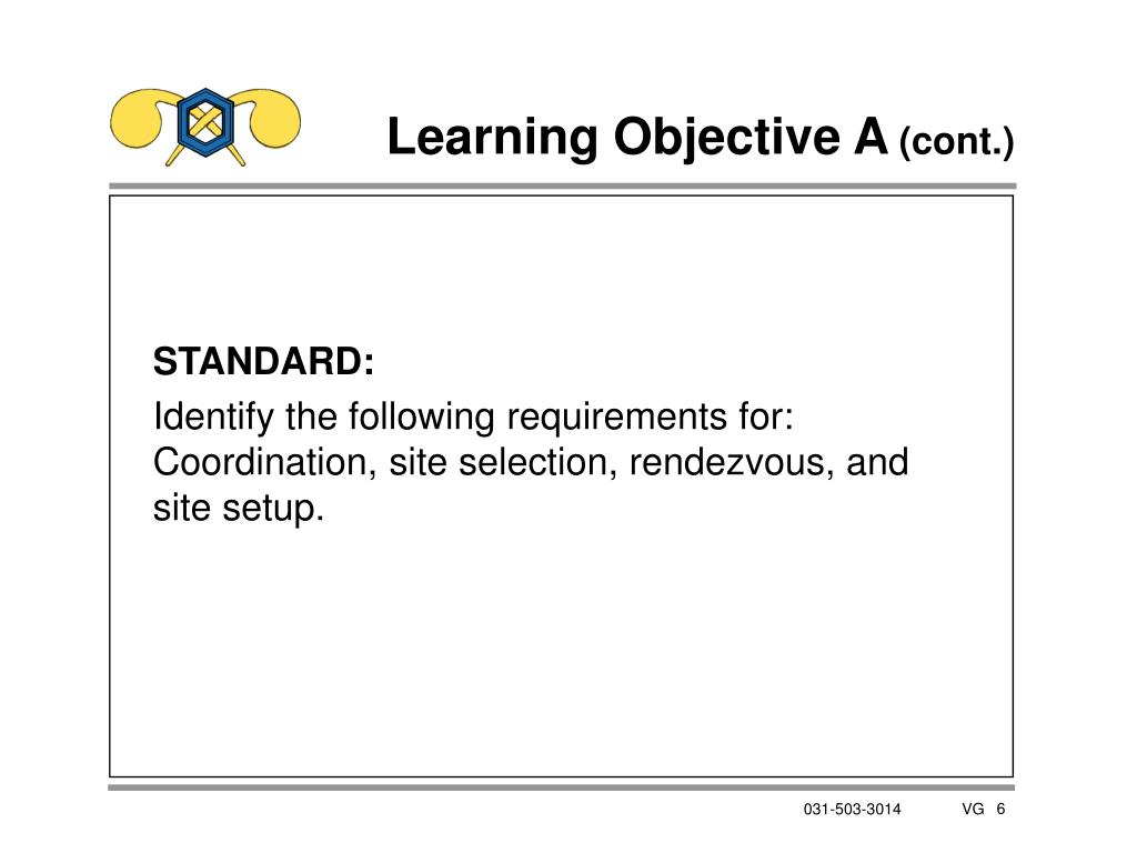 Learning Objective A